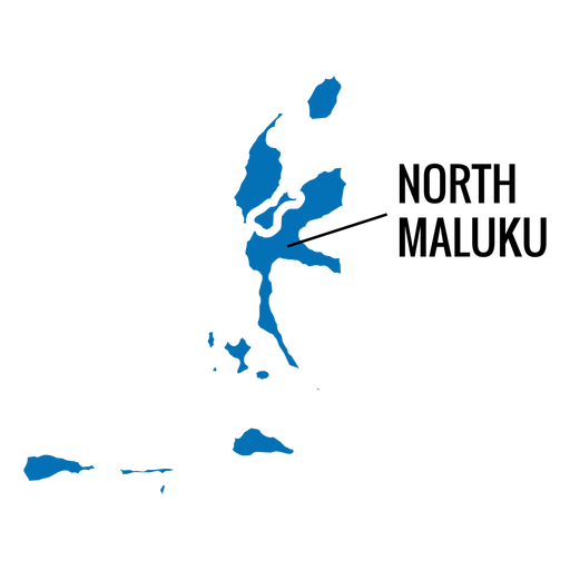 North maluku province map Transparent PNG