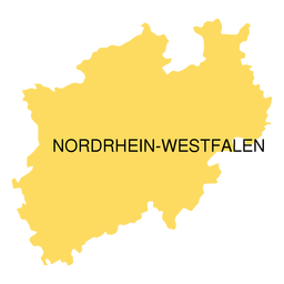 North rhine westfalia state map