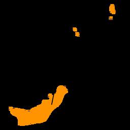 Mapa da província de Sulawesi do Norte