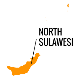 North sulawesi province map
