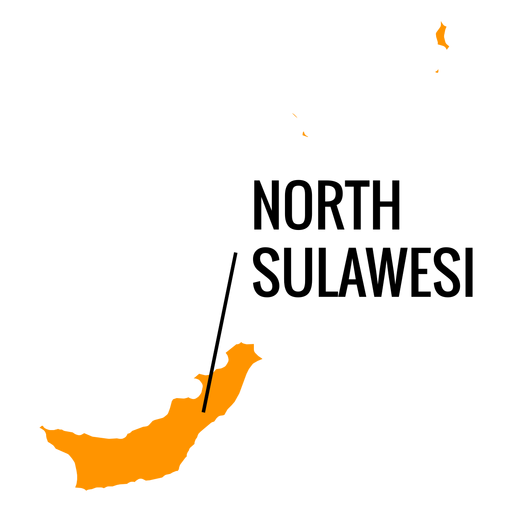 North sulawesi province map Transparent PNG