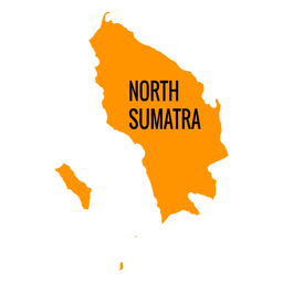 Mapa da província de sumatra do Norte