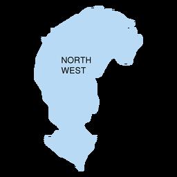 Mapa del distrito noroeste