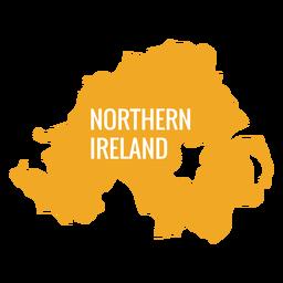 Mapa del país de Irlanda del norte