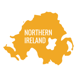 Mapa do país da Irlanda do Norte