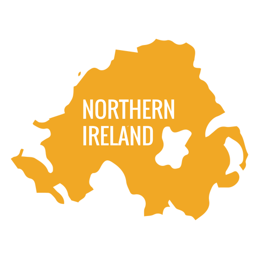 Northern ireland country map Transparent PNG
