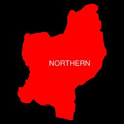 Mapa del distrito de israel norte