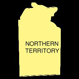 Mapa do estado do território do norte