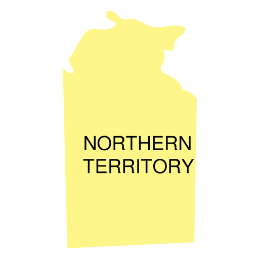 Northern territory state map Transparent PNG