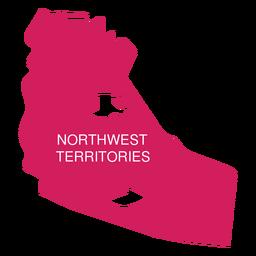 Mapa del territorio de los territorios del noroeste
