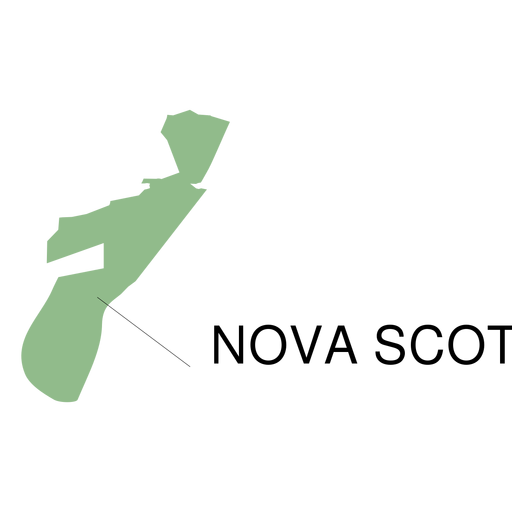 Mapa da província de Nova Escócia Transparent PNG