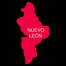 Mapa do estado de Nuevo Leon