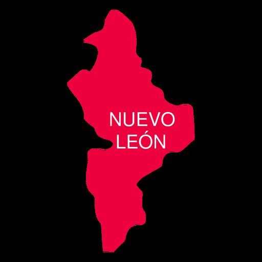 Mapa del estado de Nuevo León Transparent PNG