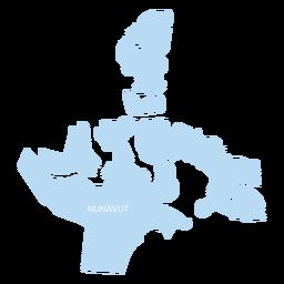 Mapa do território Nunavut