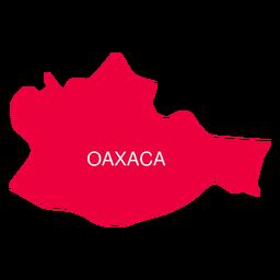 Oaxaca State Karte