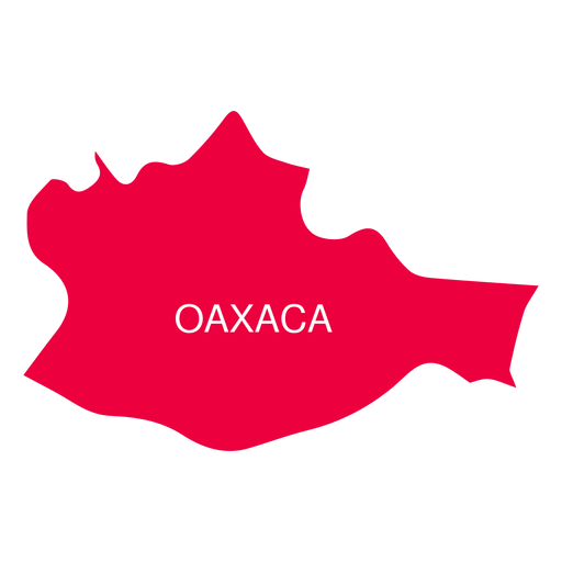 Oaxaca state map Transparent PNG