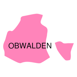 Obwalden canton map