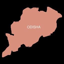 Mapa del estado de odisha
