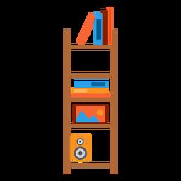 Ilustración de estantería de oficina