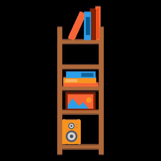 Ilustración de estantería de oficina Transparent PNG