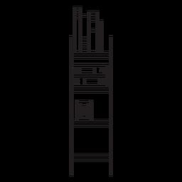 Ícone de traçado de estante de escritório