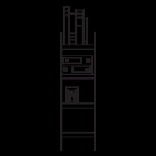 Icono de trazo de estantería de oficina Transparent PNG