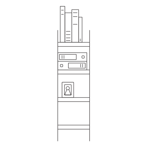 Office bookshelf stroke icon Transparent PNG