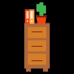 Armario de oficina con cactus clipart