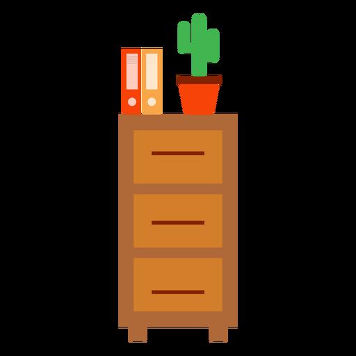 Gabinete de oficina con imágenes prediseñadas de cactus Transparent PNG