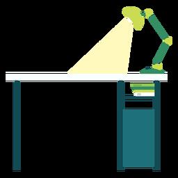 Ilustração da mesa de escritório