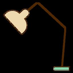 Elementos de escritório de ícone de lâmpada de mesa de escritório