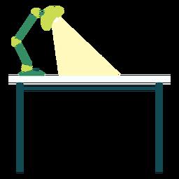 Mesa de escritório com clipart de lâmpada