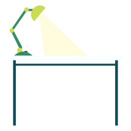 Office desk with lamp clipart