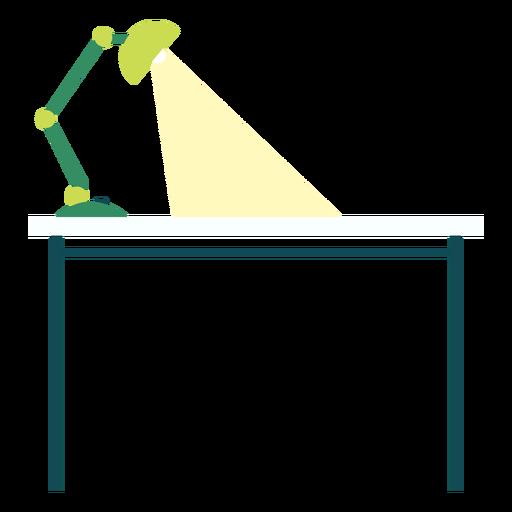 Escritorio de oficina con lámpara clipart Transparent PNG