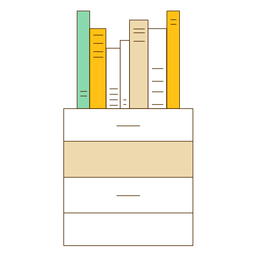Ícone da gaveta do escritório
