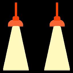 Escritório, penduradas, lâmpadas, clipart