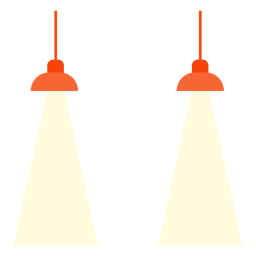 Office hanging lamps clipart