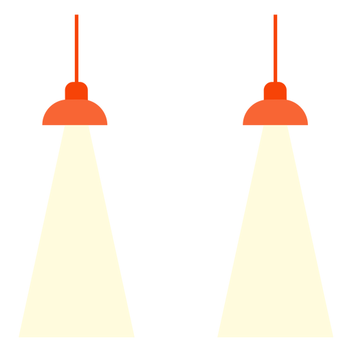 Office hanging lamps clipart Transparent PNG