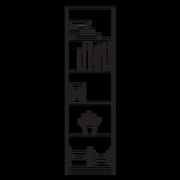 Ícone de traço de prateleira de escritório