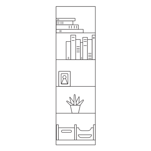 Office shelf stroke icon Transparent PNG