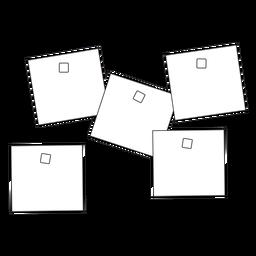 Icono de movimiento de notas adhesivas de oficina