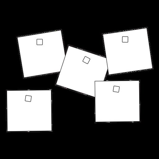 Icono de trazo de notas adhesivas de oficina Transparent PNG
