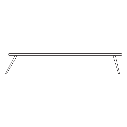 Icono de trazo de mesa de oficina Transparent PNG