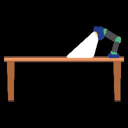 Mesa de oficina con lámpara clipart