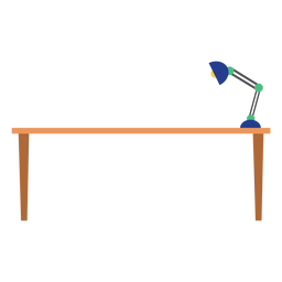 Office table with lamp clipart