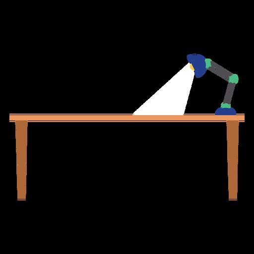 Mesa de oficina con lámpara clipart Transparent PNG