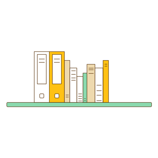 Office wall bookshelf icon Transparent PNG