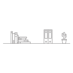 Ícone de curso de estante de estante de escritório