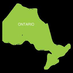 Mapa da província de Ontário