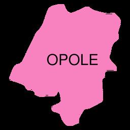 Mapa de voivodato de Opole